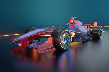 Formula e car red