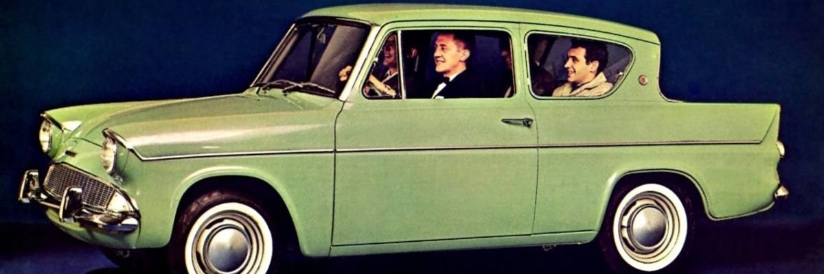 cars of the decade - Ford Anglia
