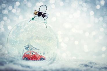 Snow globe car
