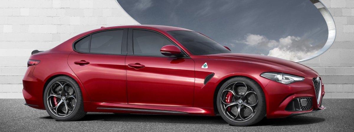 Used automatic car - side view of Alfa Romeo Giulia