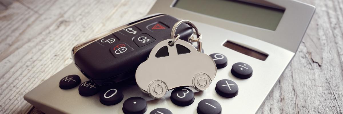 calculator with car keys