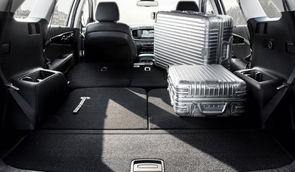 new Kia Sorento boot capacity with all seats folded flat