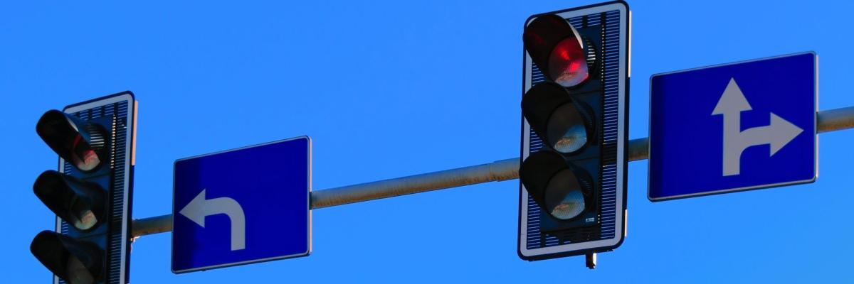 overhead traffic lights