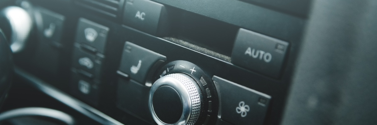close up of air-conditioning on car console