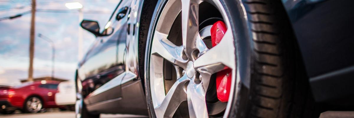 Close up of car brake discs