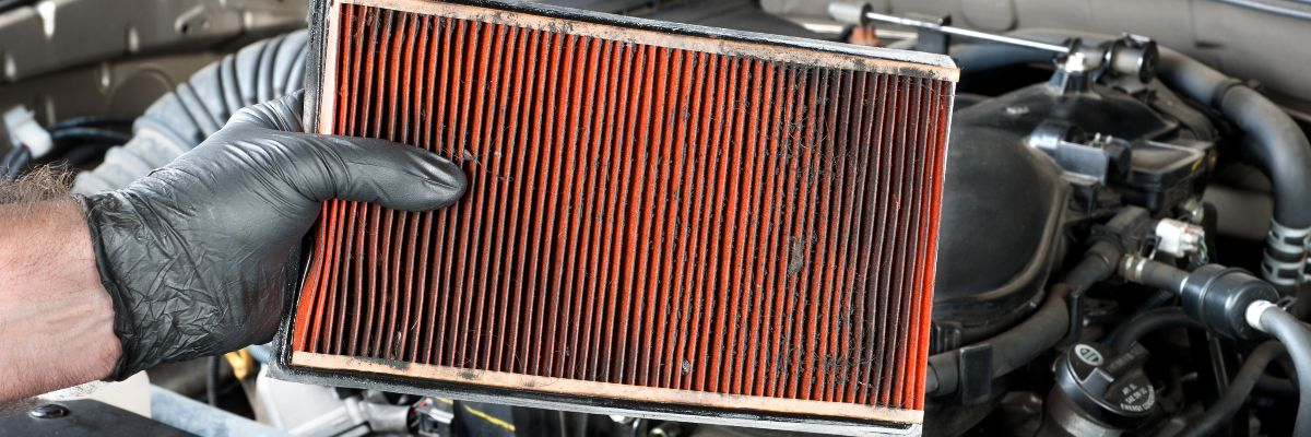 car checks - a clogged air filter
