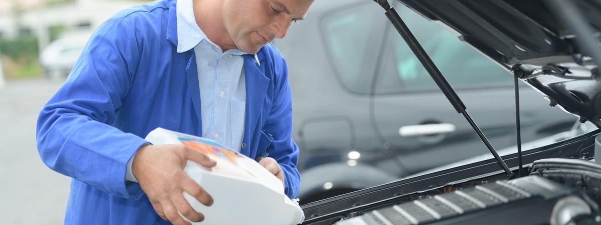 refilling car fluids