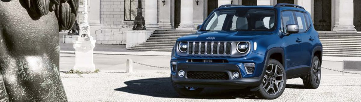 Front aspect of new Jeep