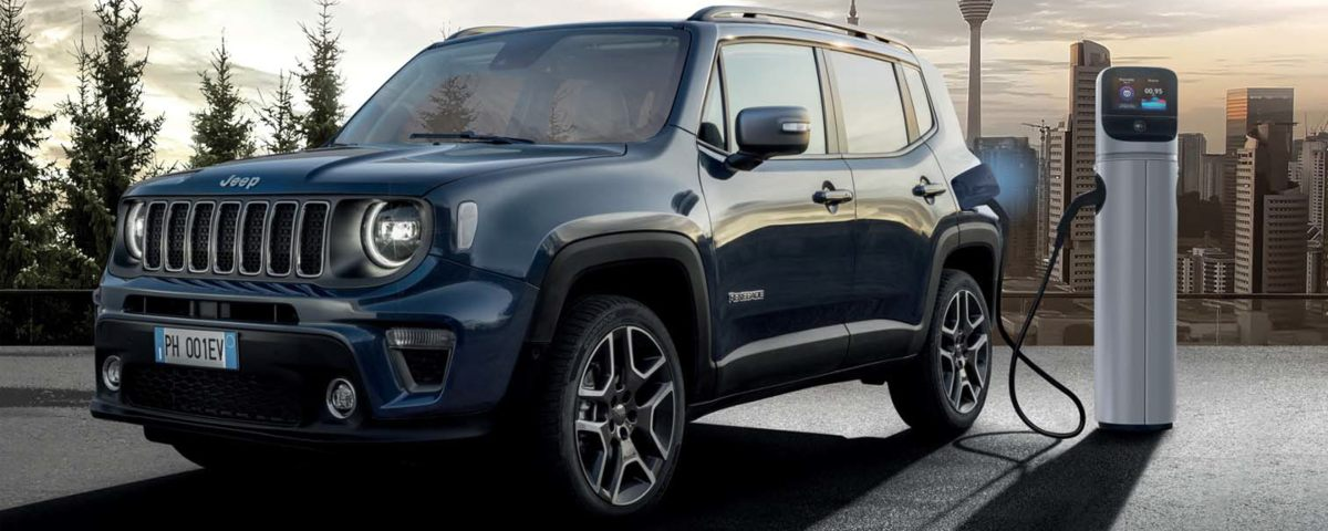 Jeep Renegade 4xe on charge