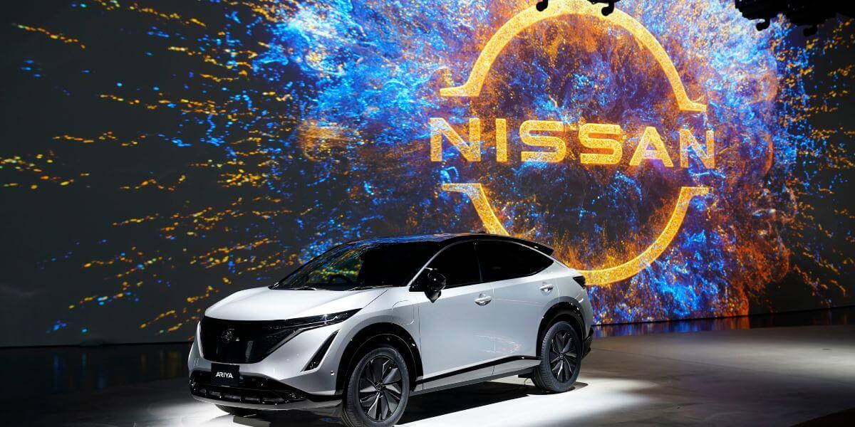 new Nissan logo on Nissan Ariya