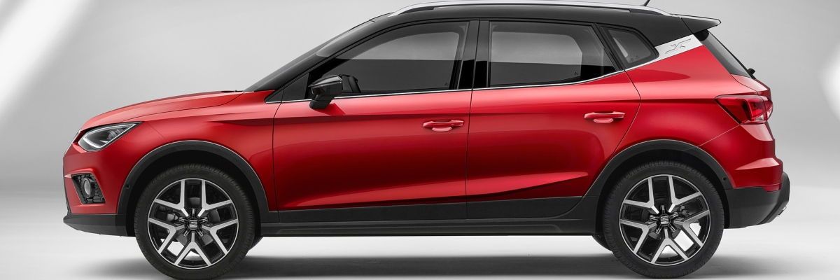 Red SEAT Arona SUV