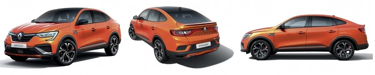 new Renault Arkana from different angles