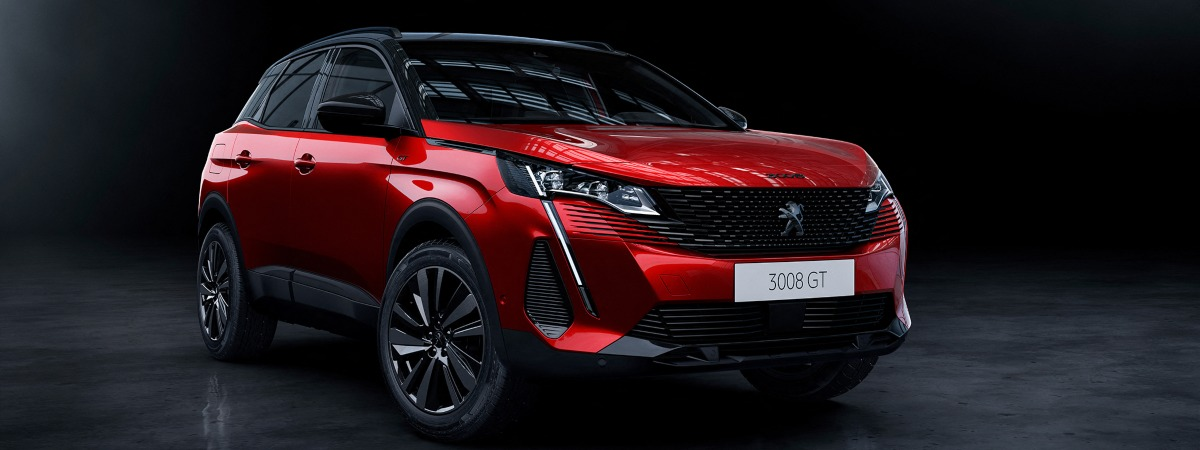 front view of new Peugeot 3008