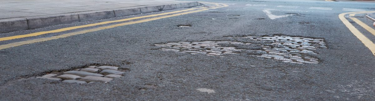 image of potholes - indicating what vehicle tax pays for