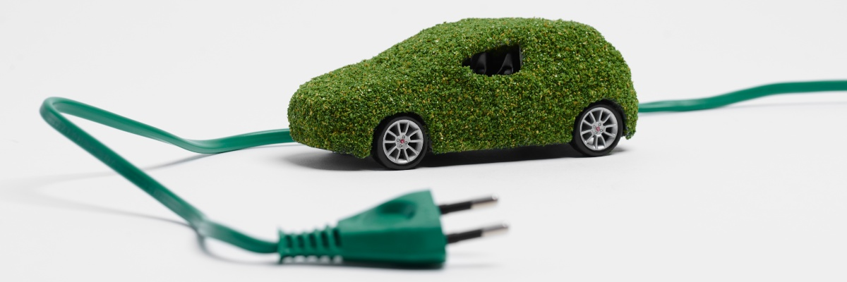 new ev battery image shows green car and plug