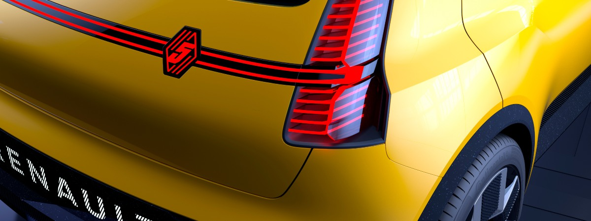 new Renault 5 rear view