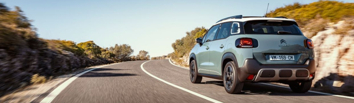 rear view of Citroen C3 Aircross