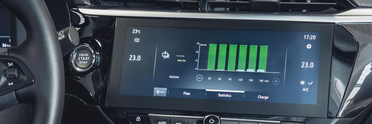 increase electric car range - display