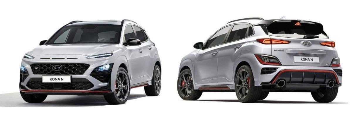 Hyundai Kona N front and rear views