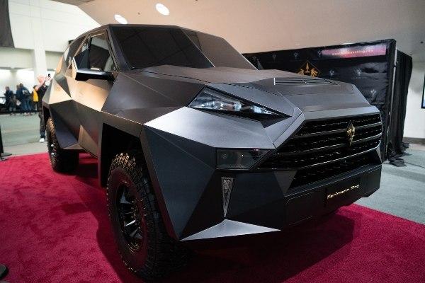 Weird car 'Karlmann King' on display at motor show