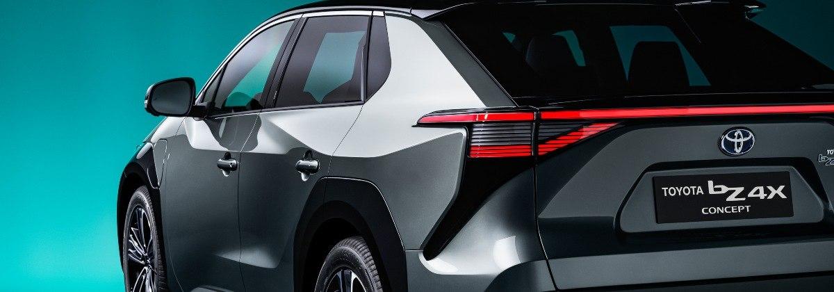 Toyota bZ4X rear view