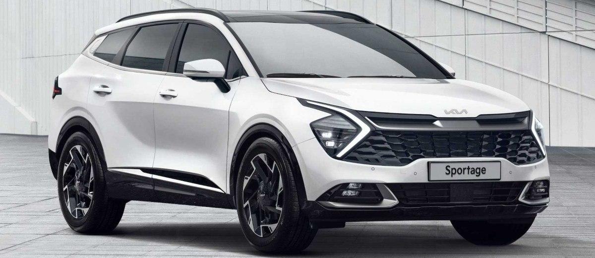 New Kia Sportage white front