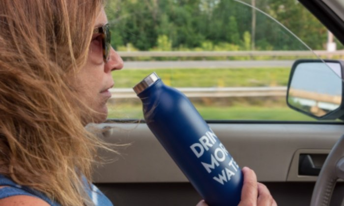 Cold drinks to keep hydrated during journeys.